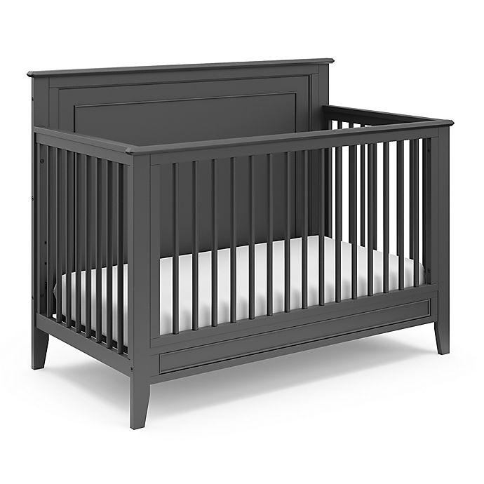 Alternate image 1 for Storkcraft™ Solstice 4-in-1 Convertible Crib in Grey