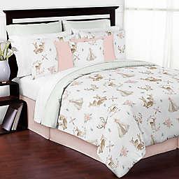 Sweet Jojo Designs® 3-Piece Deer Floral Full/Queen Bedding Set in Green/Brown