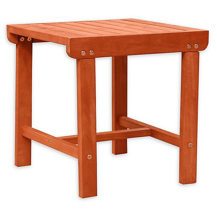 Alternate image 1 for Vifah Malibu Patio Wood Side Table in Brown