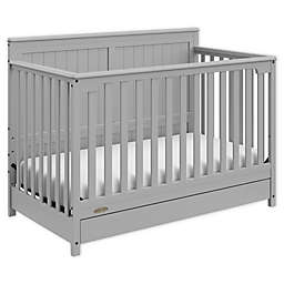 Graco® Hadley 4-in-1 Convertible Crib with Drawer in Pebble Grey