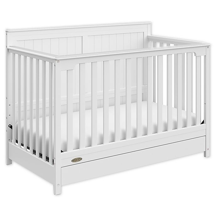 Alternate image 1 for Graco® Hadley 4-in-1 Convertible Crib with Drawer in White