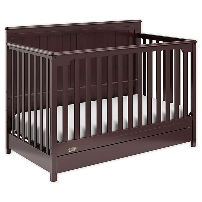 Alternate image 1 for Graco® Hadley 4-in-1 Convertible Crib with Drawer in Espresso