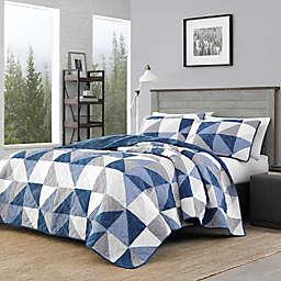 Eddie Bauer® North Cove Reversible Quilt Set in Navy