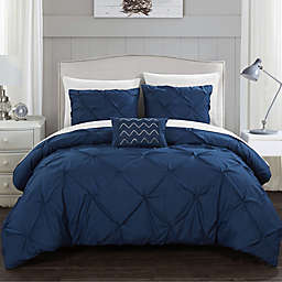 Chic Home© Weber 8-Piece Bed in a Bag King Comforter Set in Navy