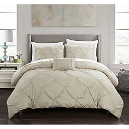 Chic Home© Weber 4-Piece Queen Comforter Set in Taupe