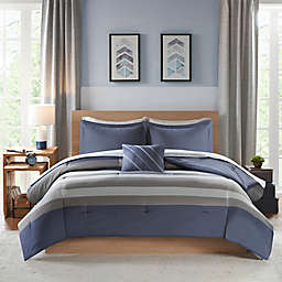 Intelligent Design Marsden Twin Extra Long Comforter Set in Blue/Grey