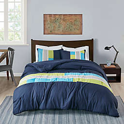 Mi Zone Pipeline King/California King Comforter Set in Navy