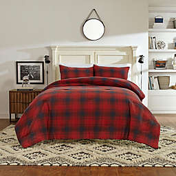Nautica® Brighton King Duvet Cover Set in Red