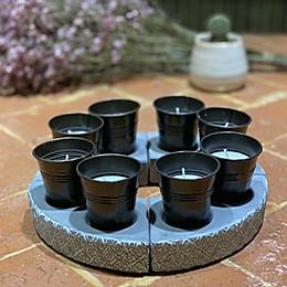 Patio Essentials 1.5 oz. Umbrella Mini Citronella Candles in Bronze (Set of 8)