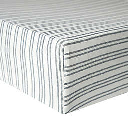 Copper Pearl™ Midtown Premium Fitted Crib Sheet in Grey/White Stripe