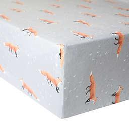 Copper Pearl™ Swift Premium Fitted Crib Sheet in Grey/Orange
