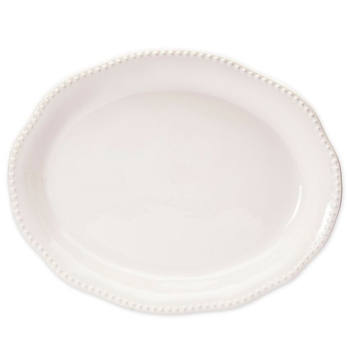 Alternate image 1 for Modern Farmhouse  Turkey Organic Edge 21-Inch Oval Platter in White
