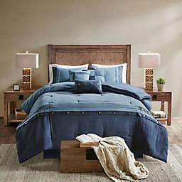 Madison Park Boone 7-Piece Queen Comforter Set in Dark Navy