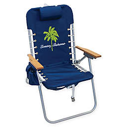 Tommy Bahama 4-Position Backpack Hi Boy Beach Chair in Blue