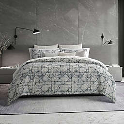 Vera Wang® Layered Geometric Queen Duvet Cover in Grey