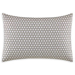Vera Wang® Layered Geometric Stitched Lattice Throw Pillow in White