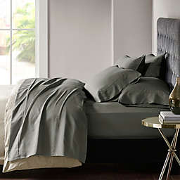 Madison Park 800-Thread-Count Cotton Blend Sateen King Sheet Set in Charcoal