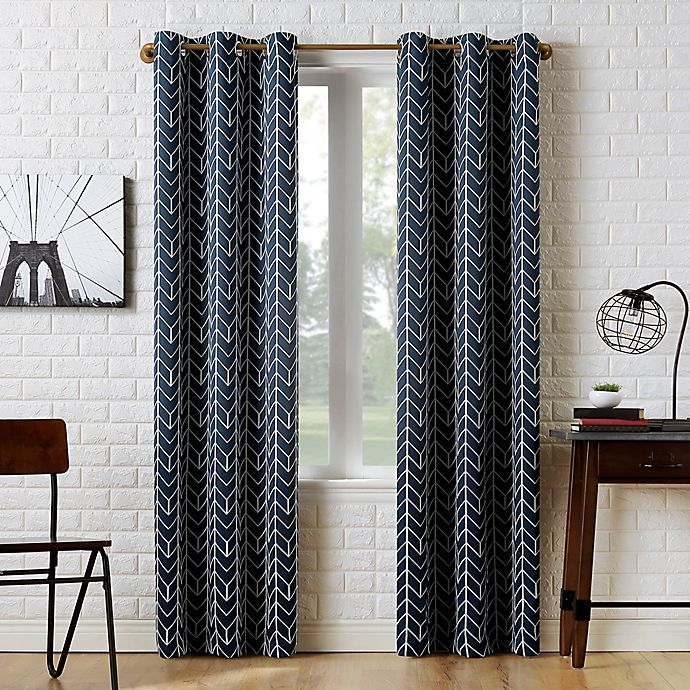 Alternate image 1 for Sun Zero® Kenwood Chevron Room Darkening Window Curtain Panel