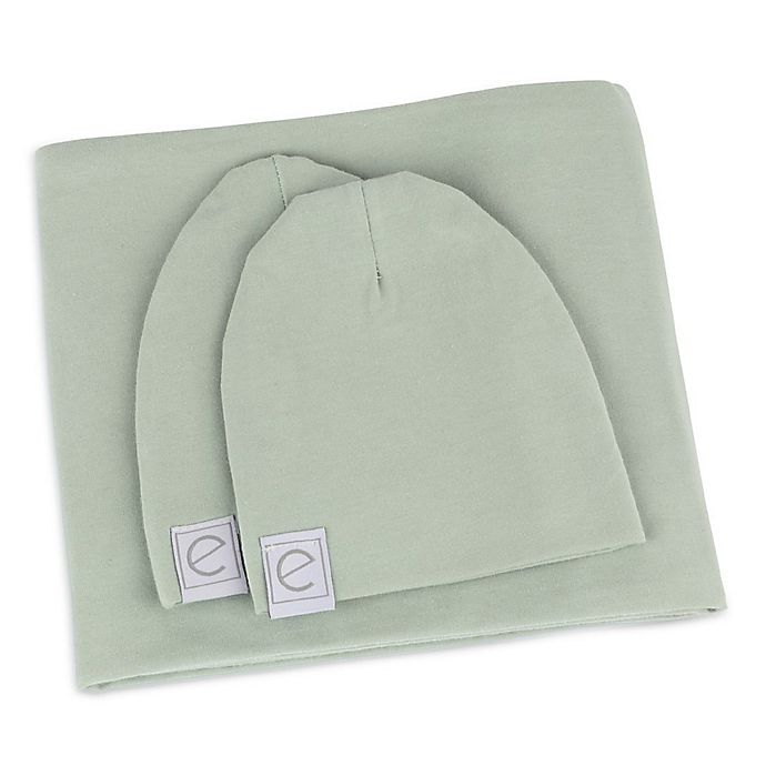 Alternate image 1 for Ely's & Co. Size NB & 0-3M 3-Piece Swaddle & Beanie Set