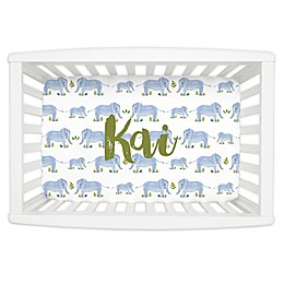 Carousel Designs® Painted Elephants Mini Fitted Crib Sheet