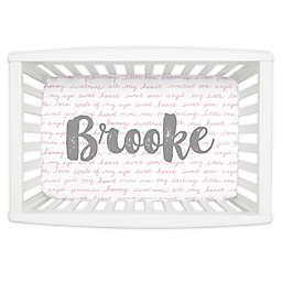 Carousel Designs® Sweet Girl Mini Fitted Crib Sheet in Bubblegum Pink