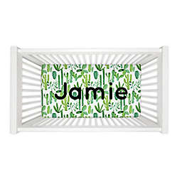 Carousel Designs® Painted Cactus Fitted Crib Sheet in Green