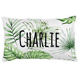 Carousel Designs® Painted Tropical Lumbar Pillow in Green