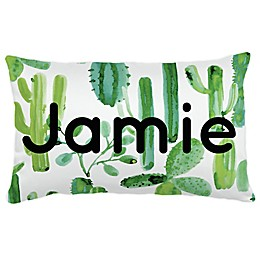 Carousel Designs® Painted Cactus Lumbar Pillow in Green