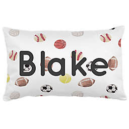 Carousel Designs® Painted Sports Lumbar Pillow in White