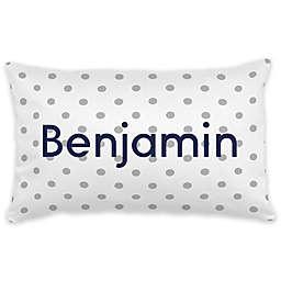 Carousel Designs® Dot Lumbar Pillow in White/Grey