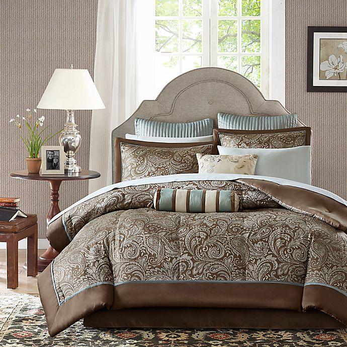 Alternate image 1 for Madison Park Aubrey 12-Piece Reversible Comforter Set