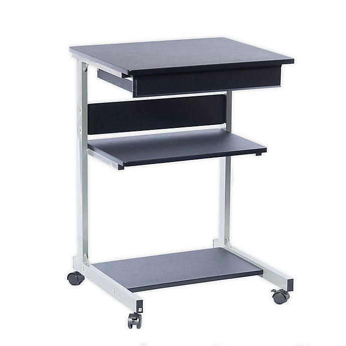 Alternate image 1 for Techni Mobili Rolling Laptop Desk with Storage in Graphite