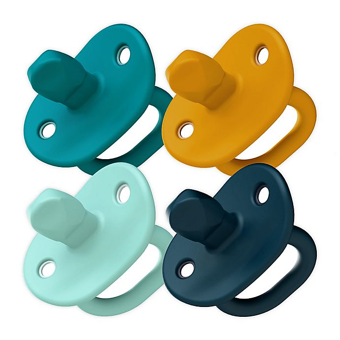 Alternate image 1 for Boon JEWL Orthodontic Silicone Four-Pack Pacifier