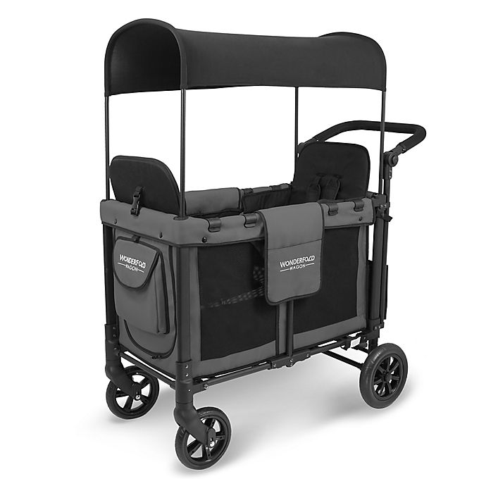 Alternate image 1 for WonderFold Wagon W2 Double Folding Stroller Wagon