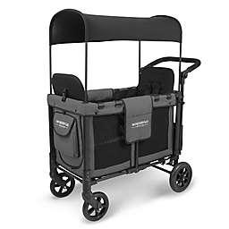 WonderFold Wagon W2 Double Folding Stroller Wagon in Charcoal Grey