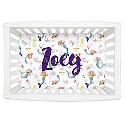 Carousel Designs® Watercolor Mermaids Mini Fitted Crib Sheet