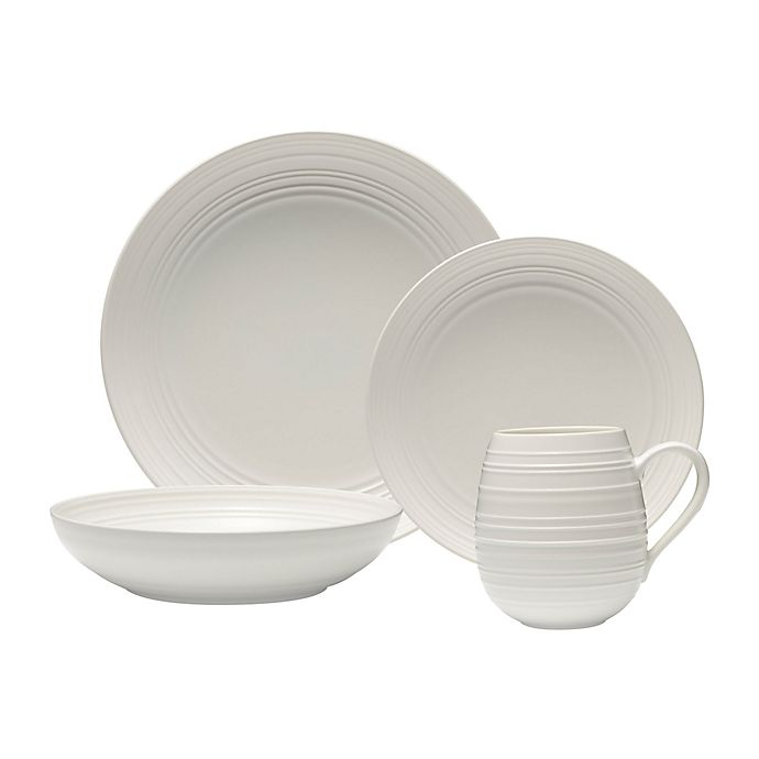 Alternate image 1 for Mikasa® Swirl Coupe Dinnerware Collection in White