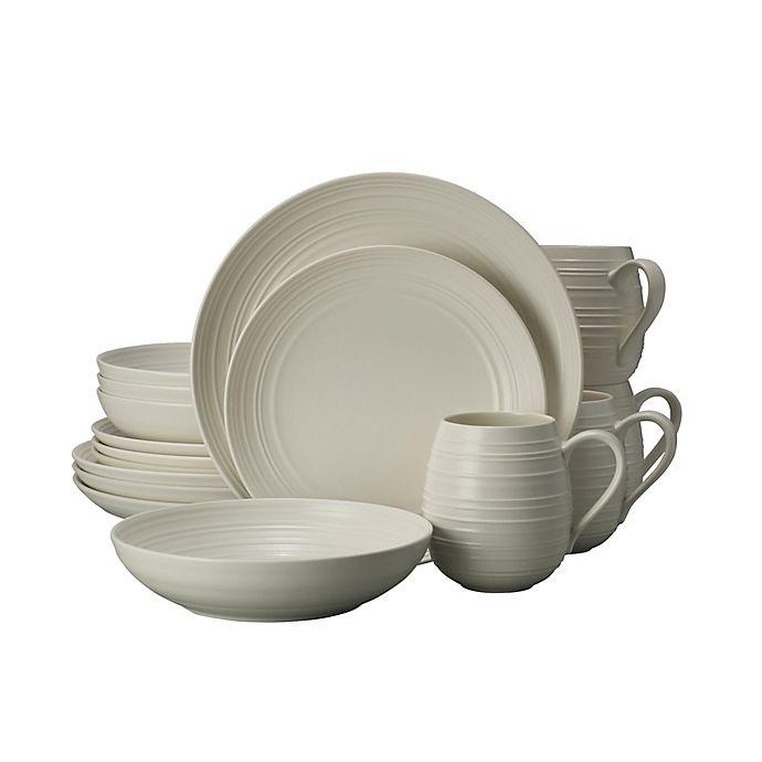 Alternate image 1 for Mikasa® Swirl Coupe 16-Piece Dinnerware Set in White