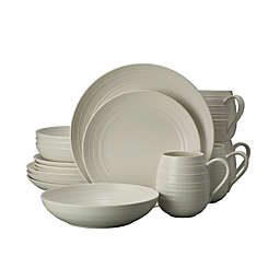 Mikasa® Swirl Coupe 16-Piece Dinnerware Set in White