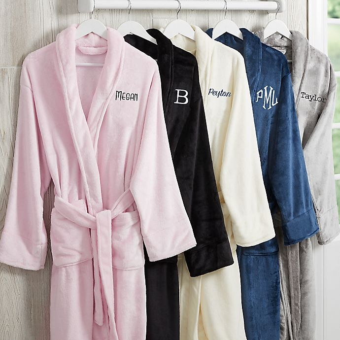 Alternate image 1 for Classic Comfort Personalized Luxury Fleece Robe Collection