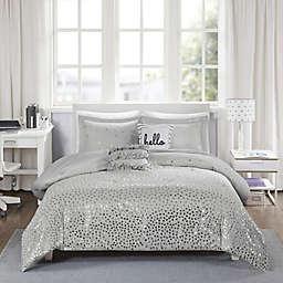 Intelligent Design Zoey Metallic 5-Piece Full/Queen Triangle Printed Comforter Set