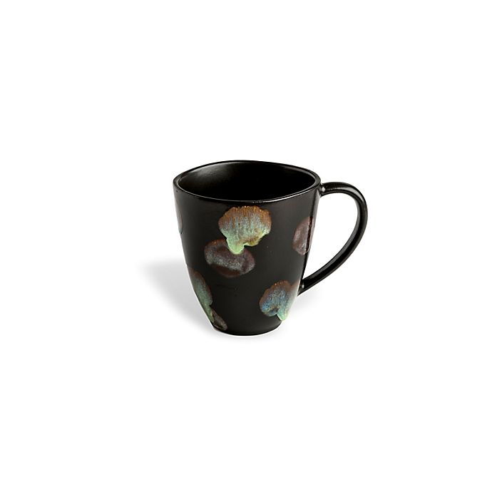 Alternate image 1 for Carmel Ceramica® Dappled Coffee Mug in Dark Brown