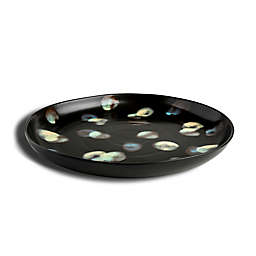 Carmel Ceramica® Dappled 14-Inch Round Serving Platter in Dark Brown