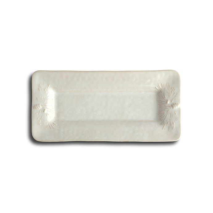 Alternate image 1 for Carmel Ceramica® Foresta 11.5-Inch Rectangular Tray in White