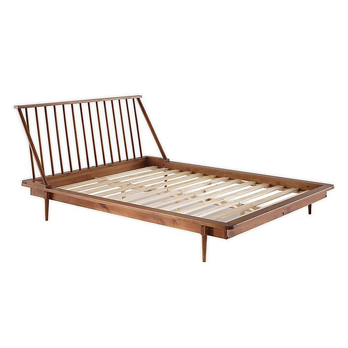 Forest Gate Solid Wood Mid Century Queen Platform Bed Bed Bath Beyond