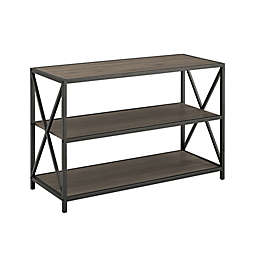 """Forest Gate™ Blair 40"""" Bookshelf Console Table in Slate Grey"""
