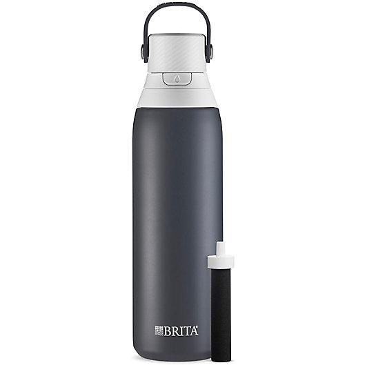 Alternate image 1 for Brita® Premium 20 oz. Filtering Stainless Steel Water Bottle