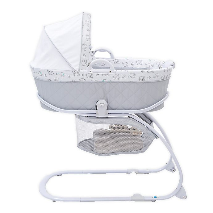 Alternate image 1 for Delta Children Deluxe Moses Bassinet in Elephant Dreams