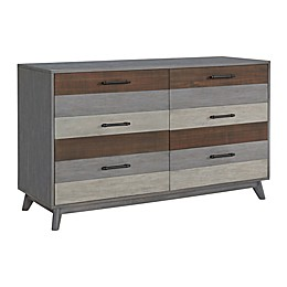 Soho Baby Cascade 6-Drawer Dresser in Grey