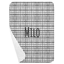Carousel Designs® Watercolor Plaid Receiving Blanket in Grey